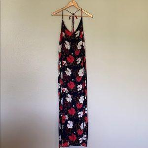 Aakaa Maxi Floral Print Dress SZ L